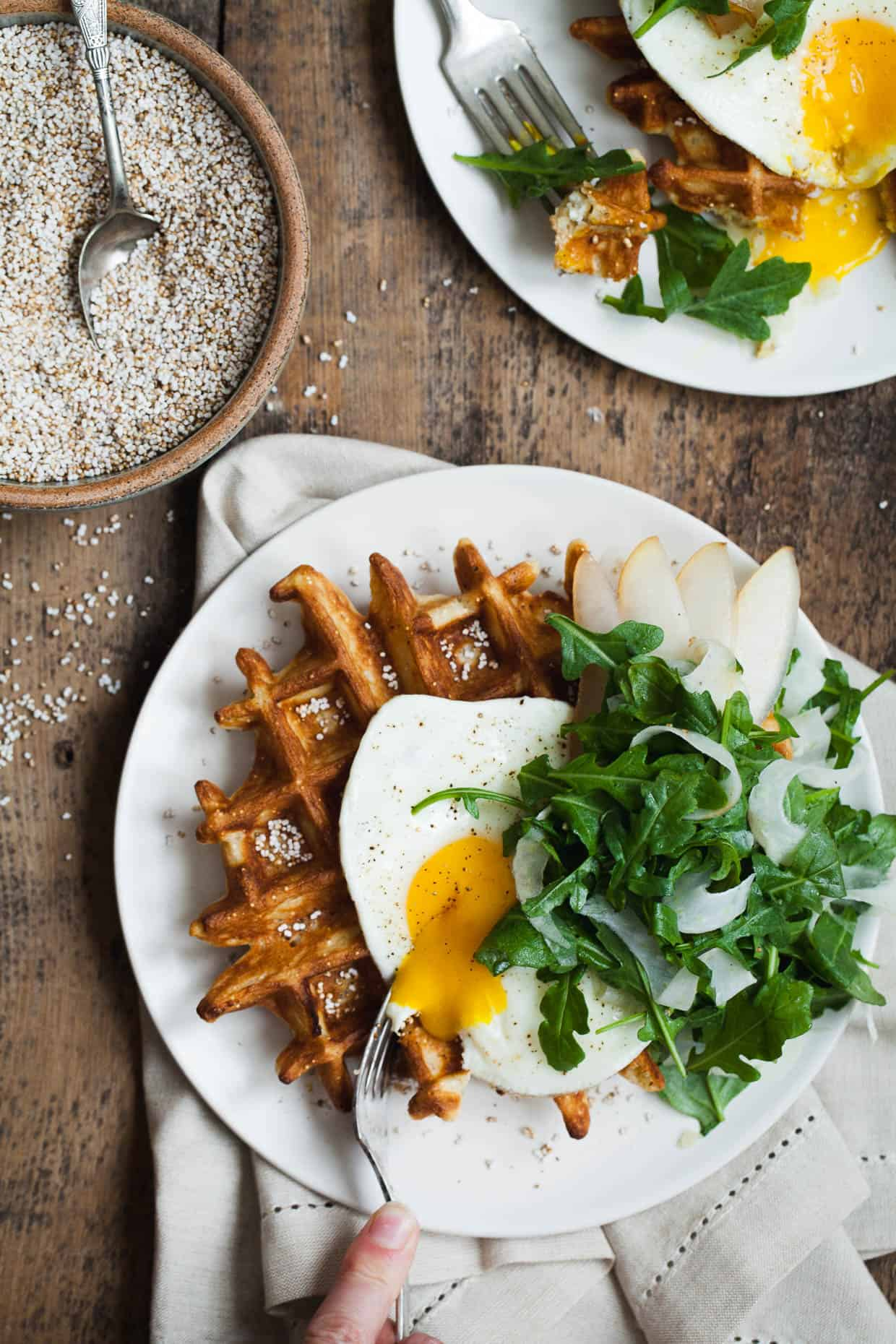 Gluten-free Savory Amaranth Waffles - Snixy Kitchen - Snixy Kitchen