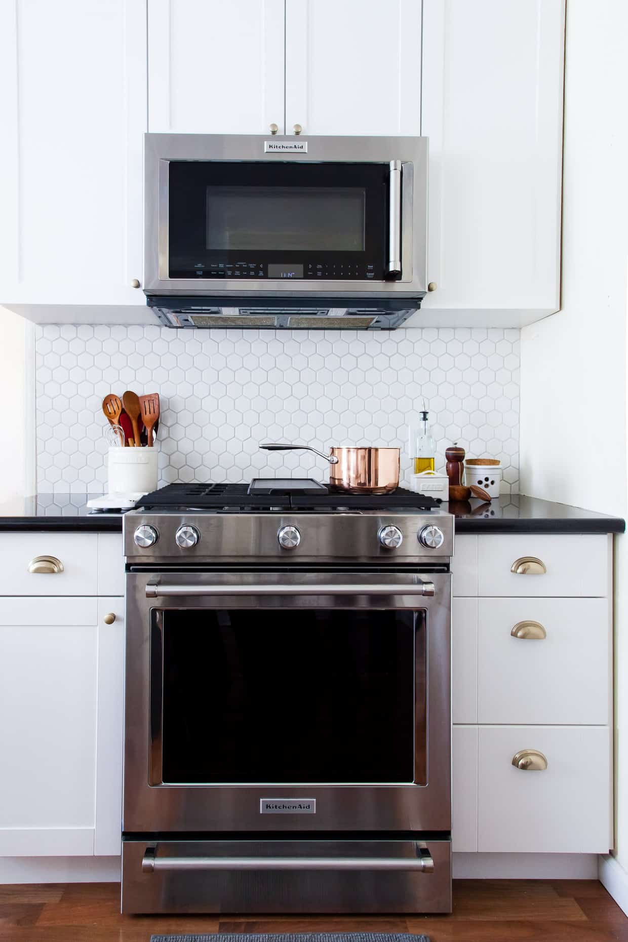 Inside Snixy Kitchen - Hex Backsplash