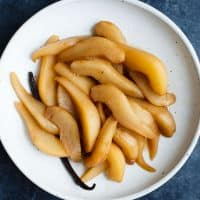 Spiced Chai Poached Pears & Pear Syrup