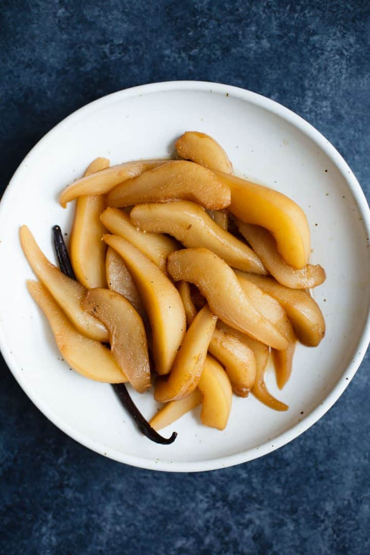 Spiced Chai Poached Pears