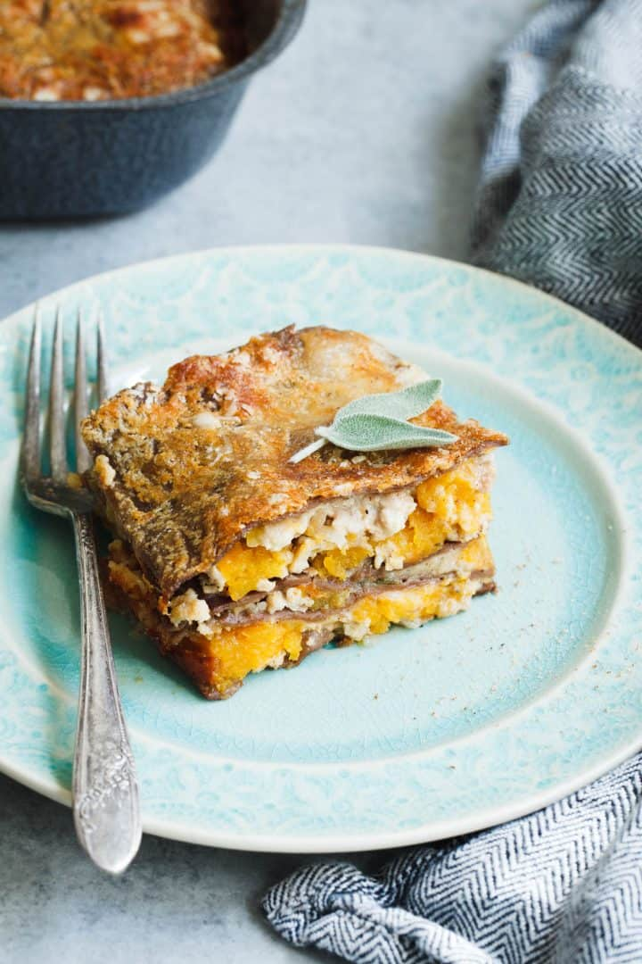 Butternut Squash Lasagna with Chestnut Pasta