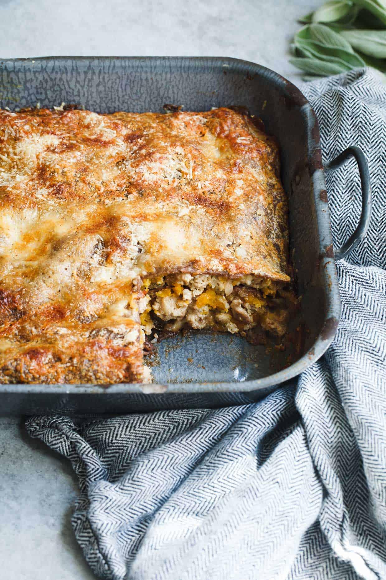 Butternut Squash Lasagna with Chestnut Pasta