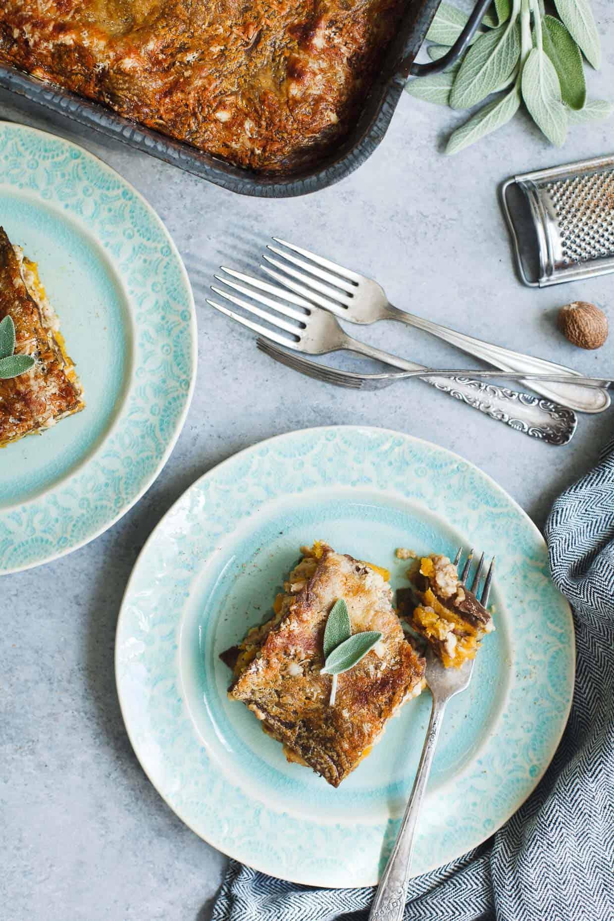 Butternut Squash & Turkey Lasagna with Chestnut Pasta | Snixy ...