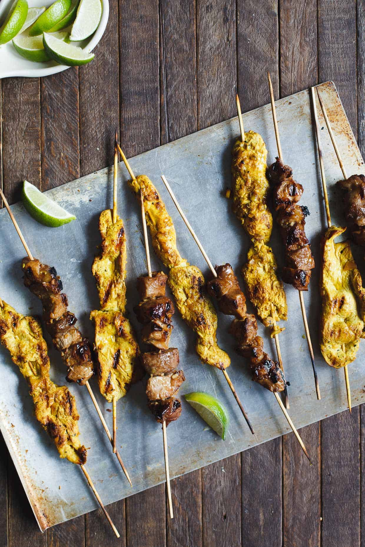 Ginger Lemongrass Pork Skewers