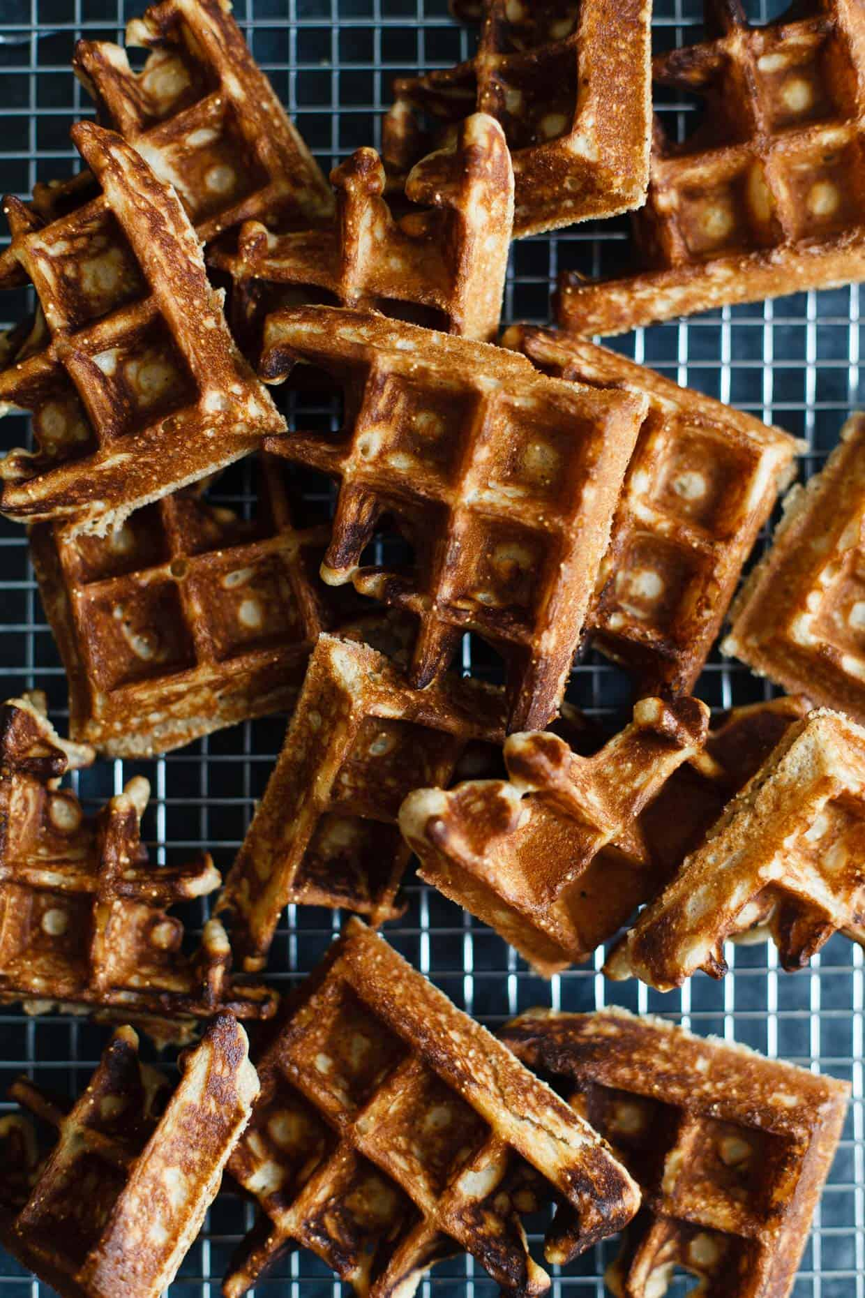 Gluten-Free Sweet Amaranth Waffles with Spiced Chai Poached Pears