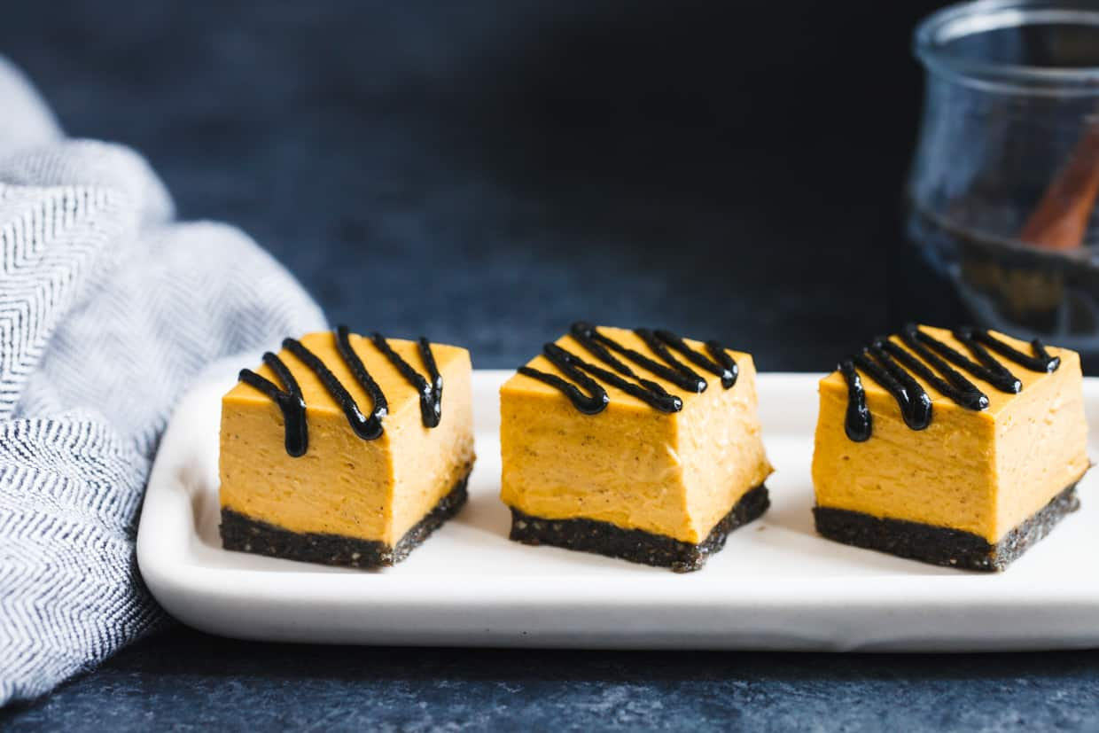 No-Bake Vegan Black Sesame Pumpkin Pie Bites
