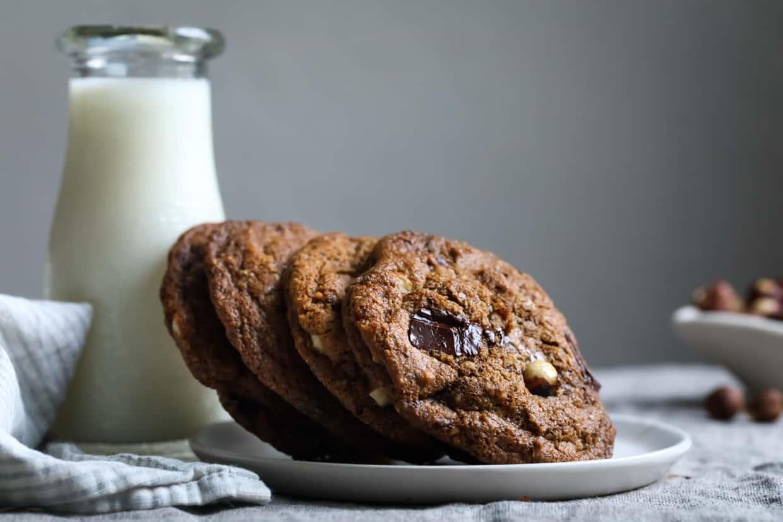 Gluten-Free Hazelnut Pumpkin Chocolate Chip Cookies