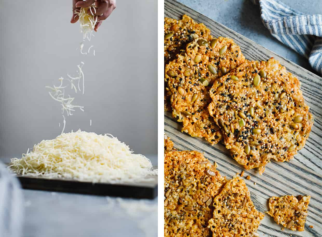 Asiago Seed & Cheese Crisps