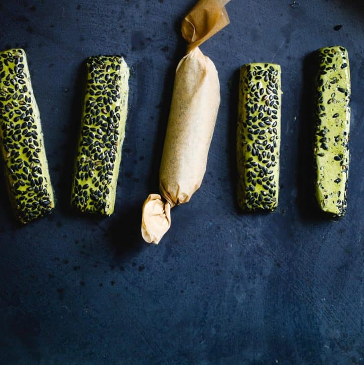 DIY Gift: Matcha Black Sesame Nougat Chews