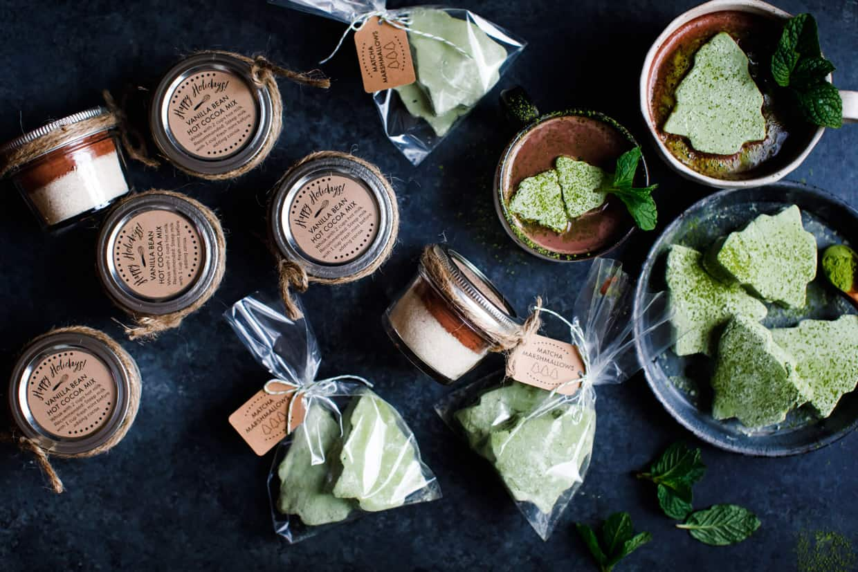 DIY Gift: Matcha Marshmallows with Fresh Mint Hot Cocoa