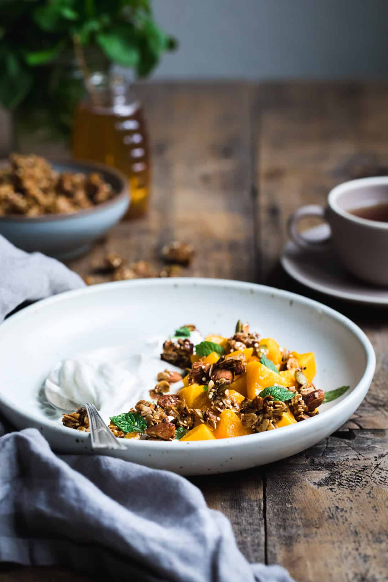Butternut Squash and Granola Yogurt Breakfast Bowls