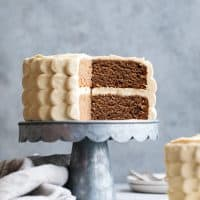 Healthy Smash Cake: Spiced Banana Date Cake with Maple Cream Cheese Frosting (Gluten-free & Refined Sugar-free)