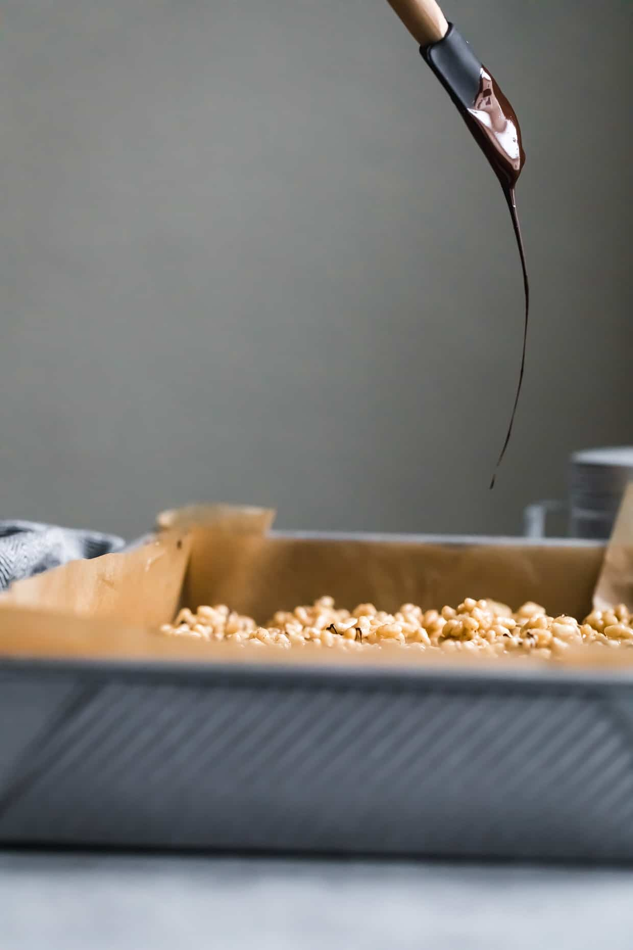 Mexican Chocolate Churro Rice Krispie Treats