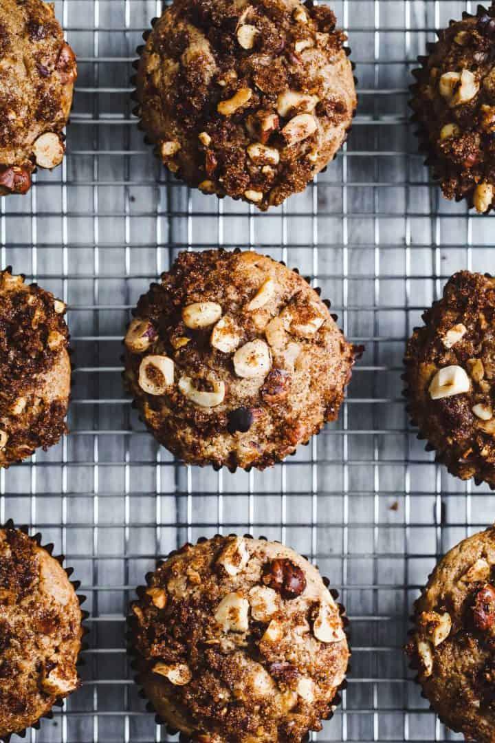 Gluten-Free Hazelnut Chocolate Chunk Muffins