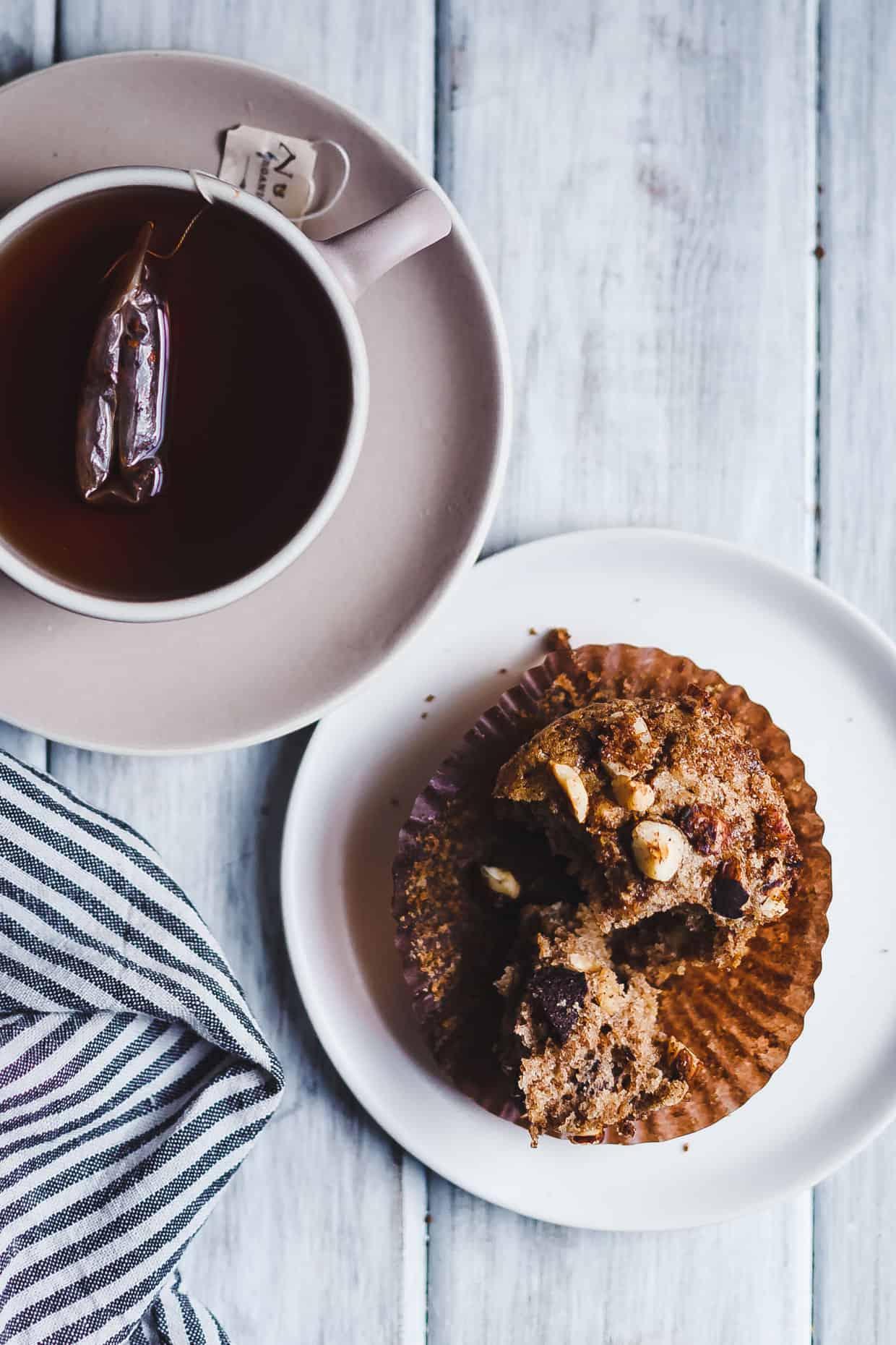 Gluten-Free Dairy-Free Hazelnut Chocolate Chunk Muffins