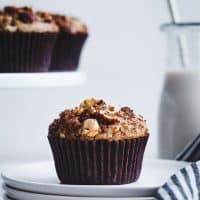 Gluten-free Cinnamon Hazelnut Chocolate Chunk Muffins