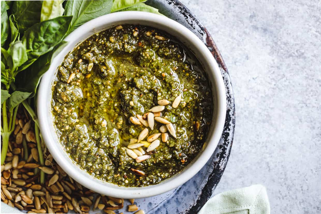Sunflower Seed Gouda Pesto