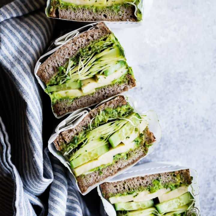 Avocado Green Goddess Sandwiches with Havarti
