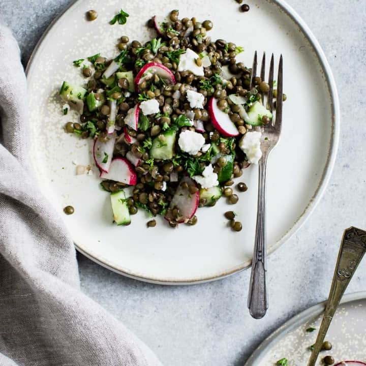 Cucumber Lentil Salad with Feta