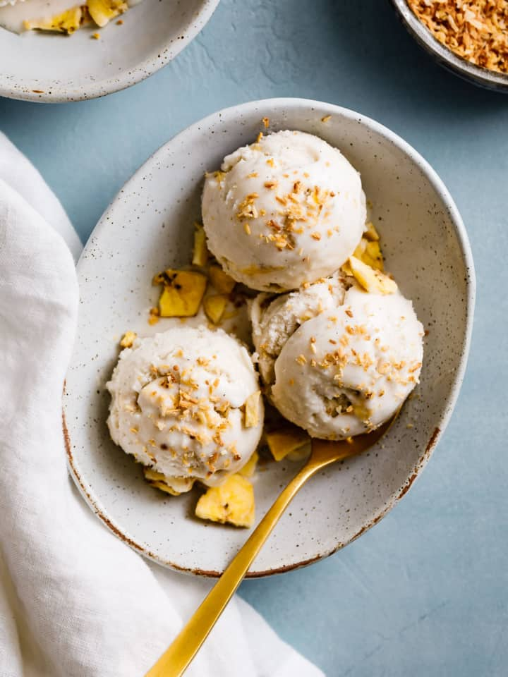 Coconut Ginger Ice Cream with Plantain Chips