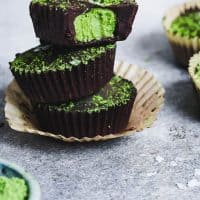 Chocolate Mint Matcha Cups