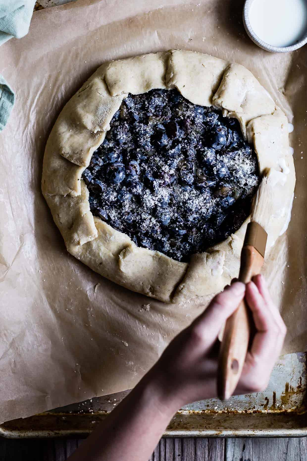 Rosemary Pear & Concord Grape Galette