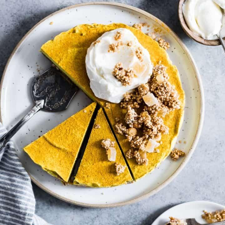 Raw Vegan Golden Milk Cheesecake