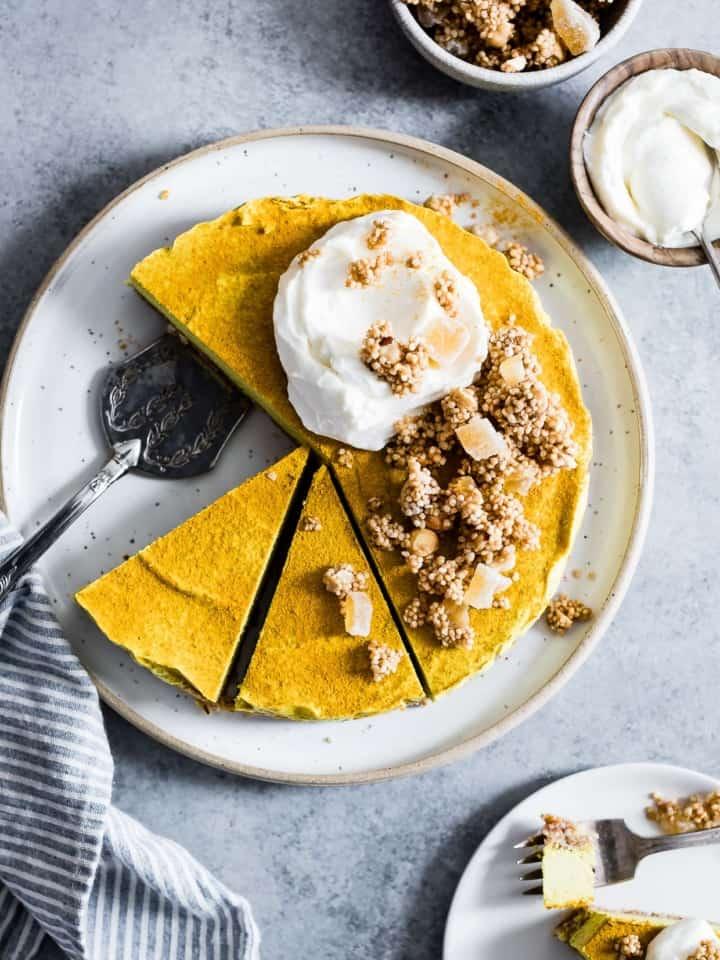 Raw Vegan Golden Milk Cheesecake-7
