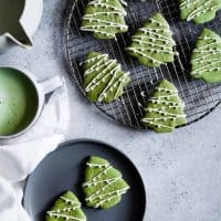 Gluten-Free White Chocolate Matcha Shortbread Cookies