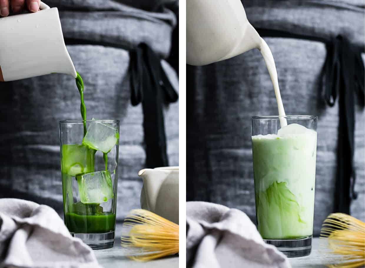 How to make an Iced Matcha Latte