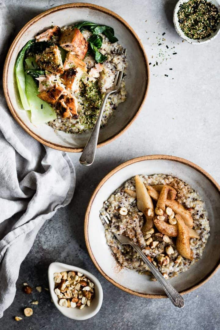 Multigrain Porridge, Two Ways: Savory & Sweet