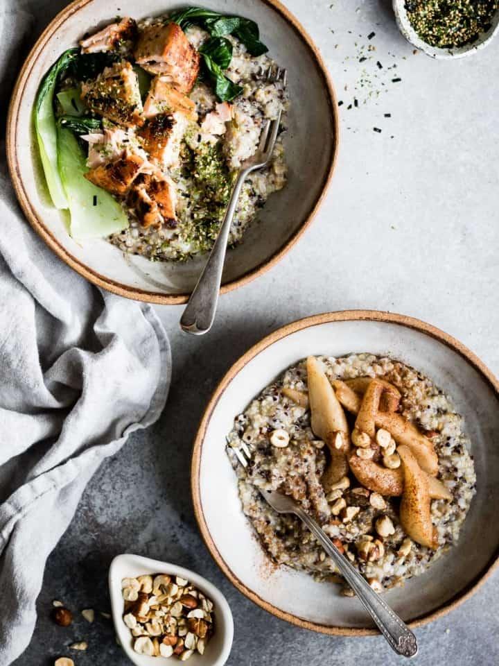 Multigrain Porridge, Two Ways: Savory & Sweet