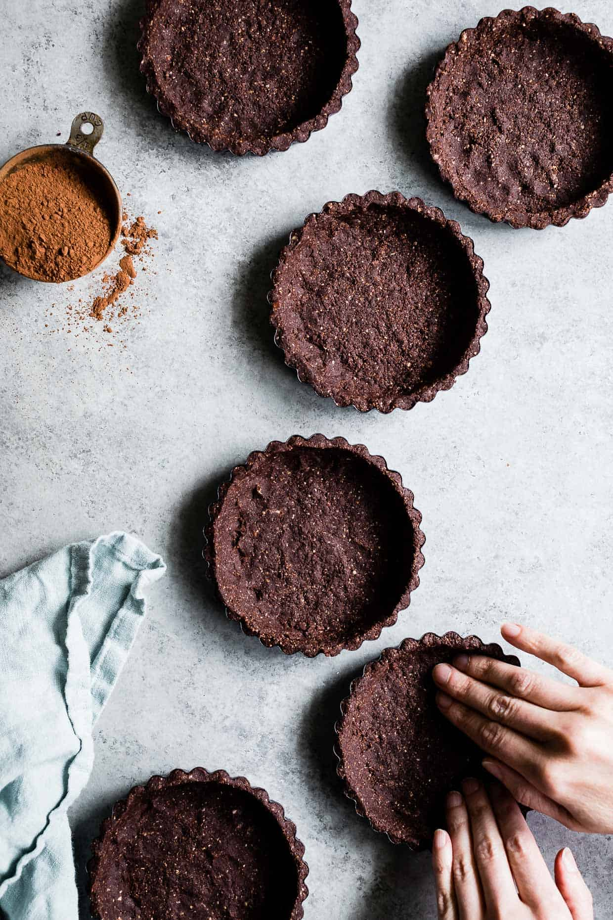 Gluten-Free Chocolate Tart Crusts