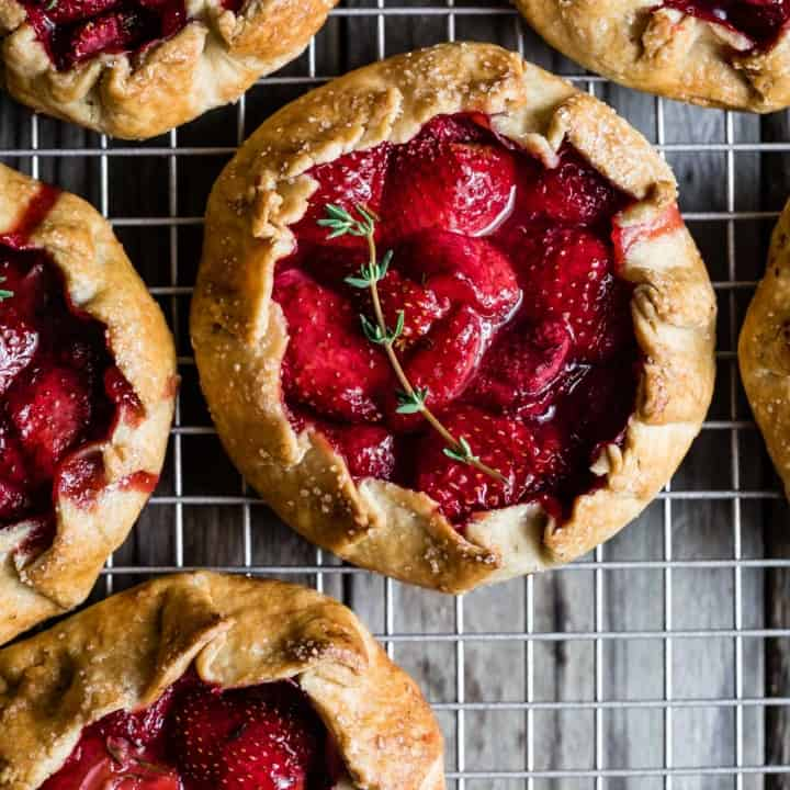 Gluten-Free Strawberry Balsamic & Thyme Galettes