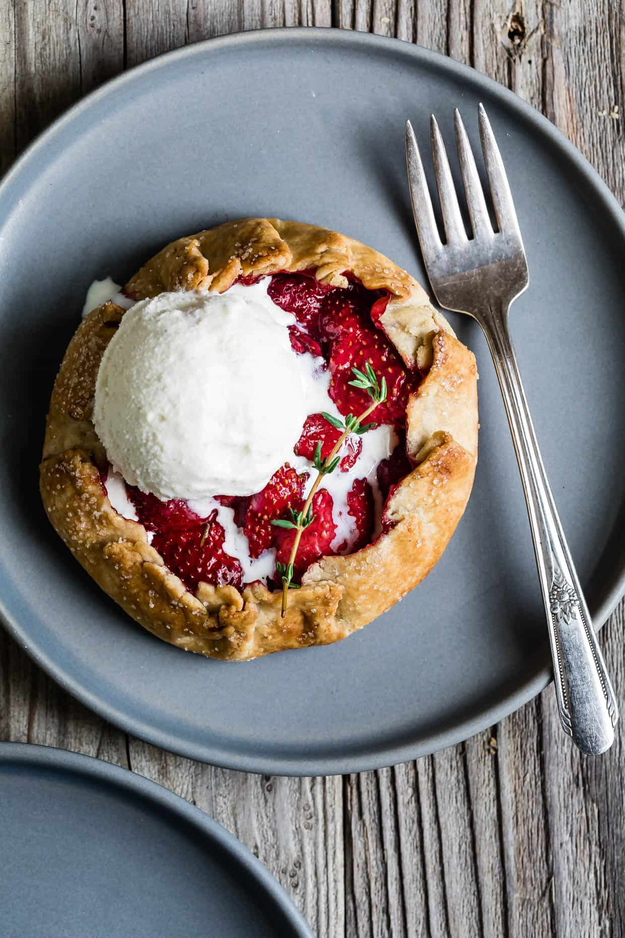 Gluten-Free Strawberry Thyme Balsamic Galettes