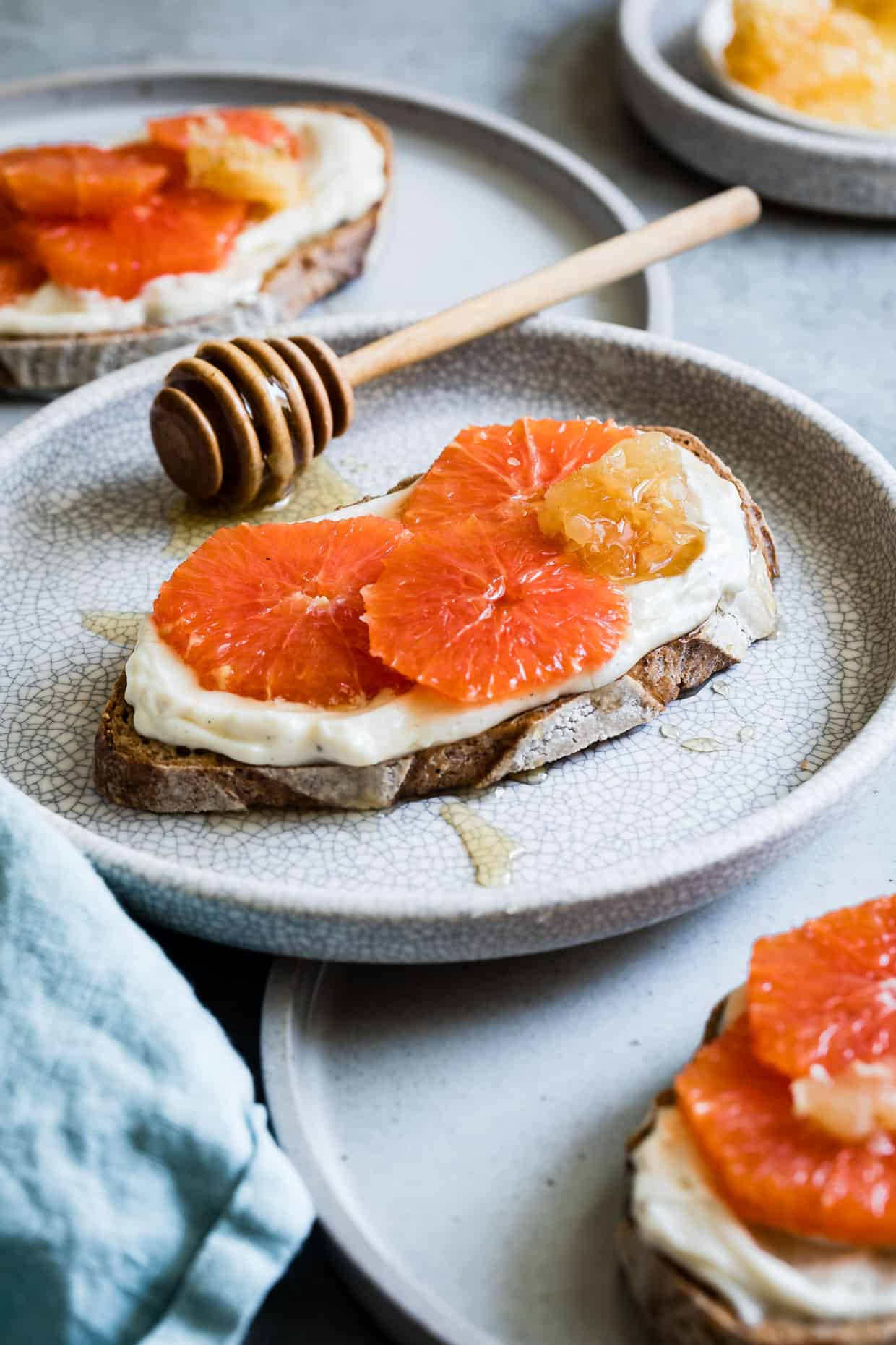 Honey Orange Ricotta Toast