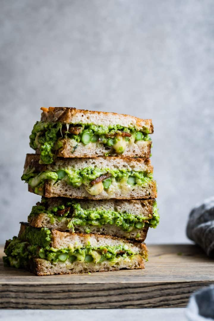 Spring Green & Pancetta Grilled Cheese