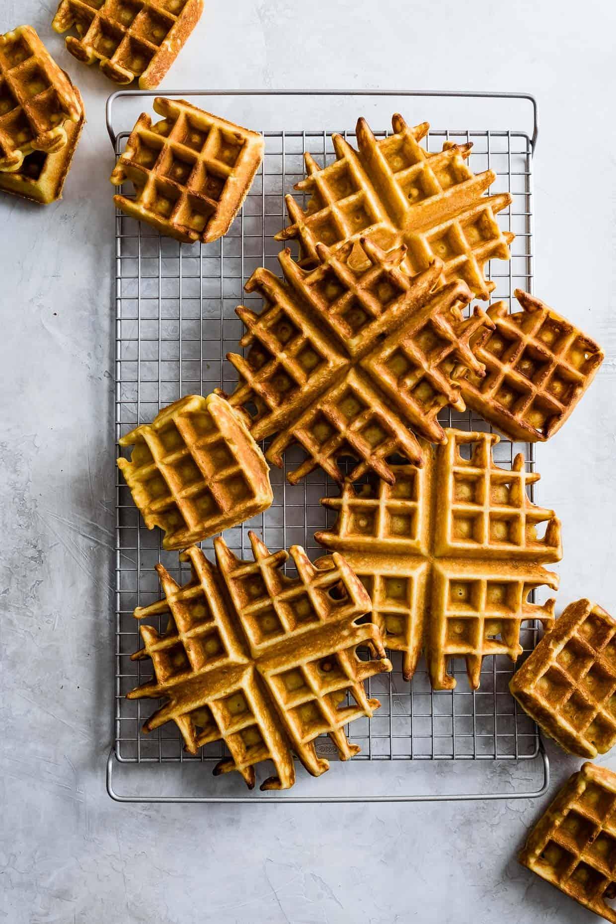 Savory Ghee Corn Flour Waffles