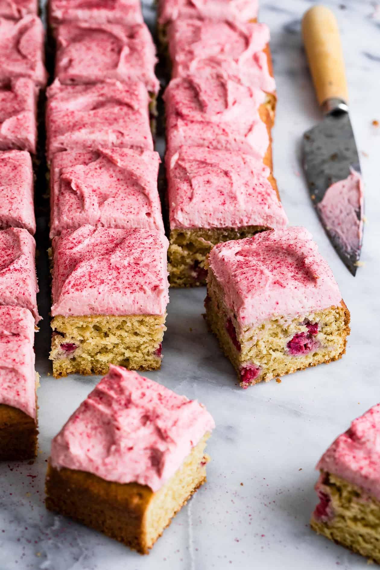 Gluten-Free Vanilla Raspberry Cake