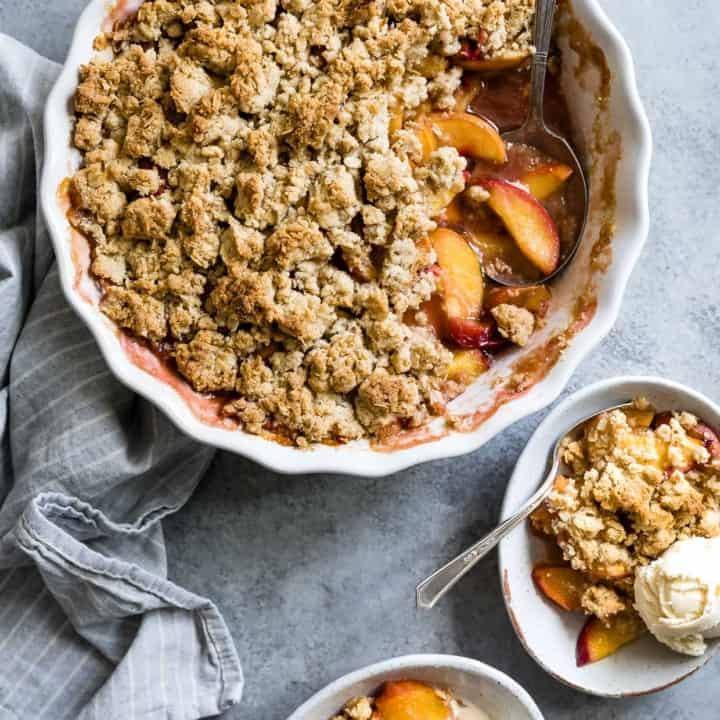 Gluten-Free Brown Sugar Peach Crumble