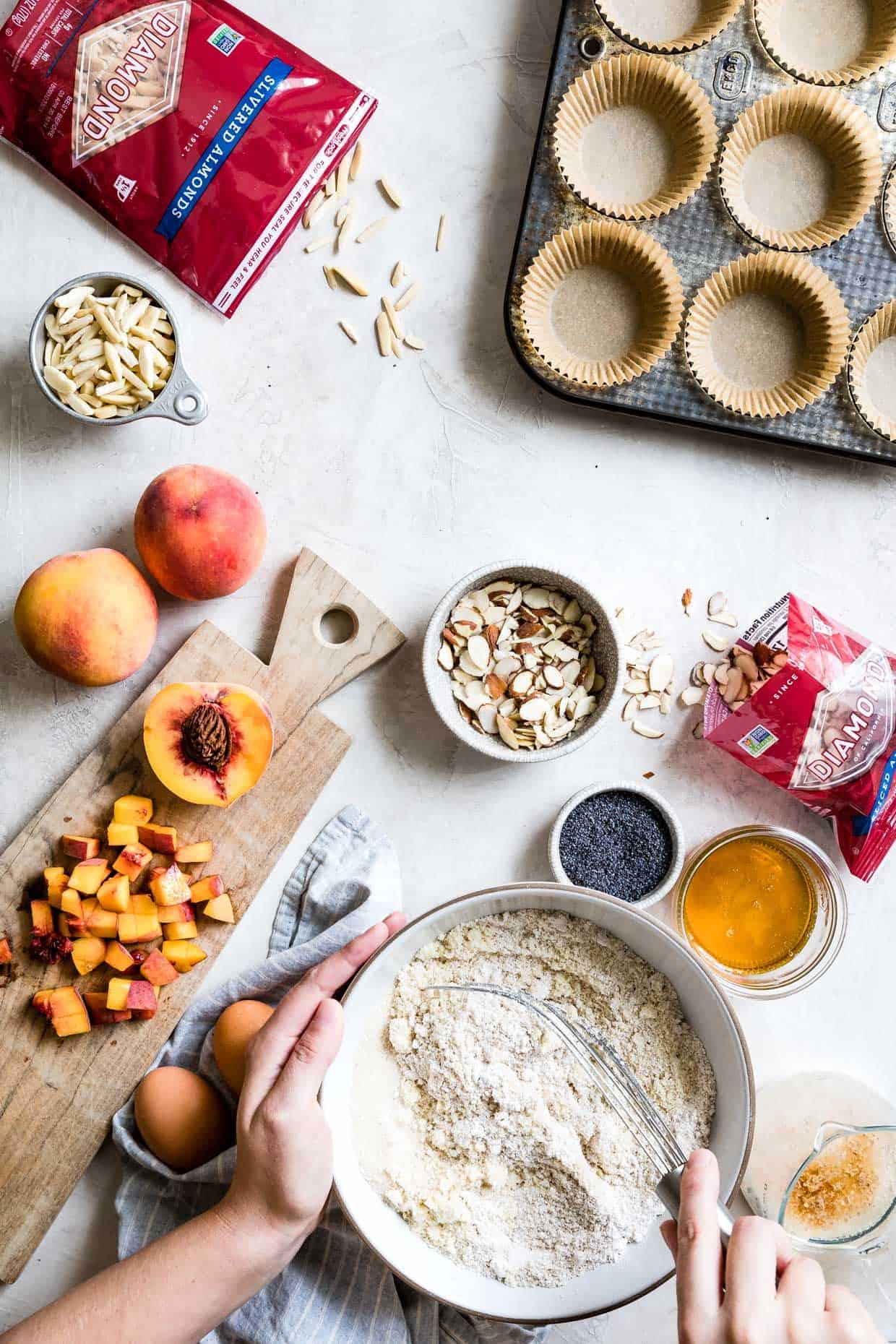 Poppy Seed Almond Flour Muffin Ingredients