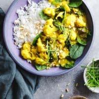 Burmese Style Vegan Coconut Curry