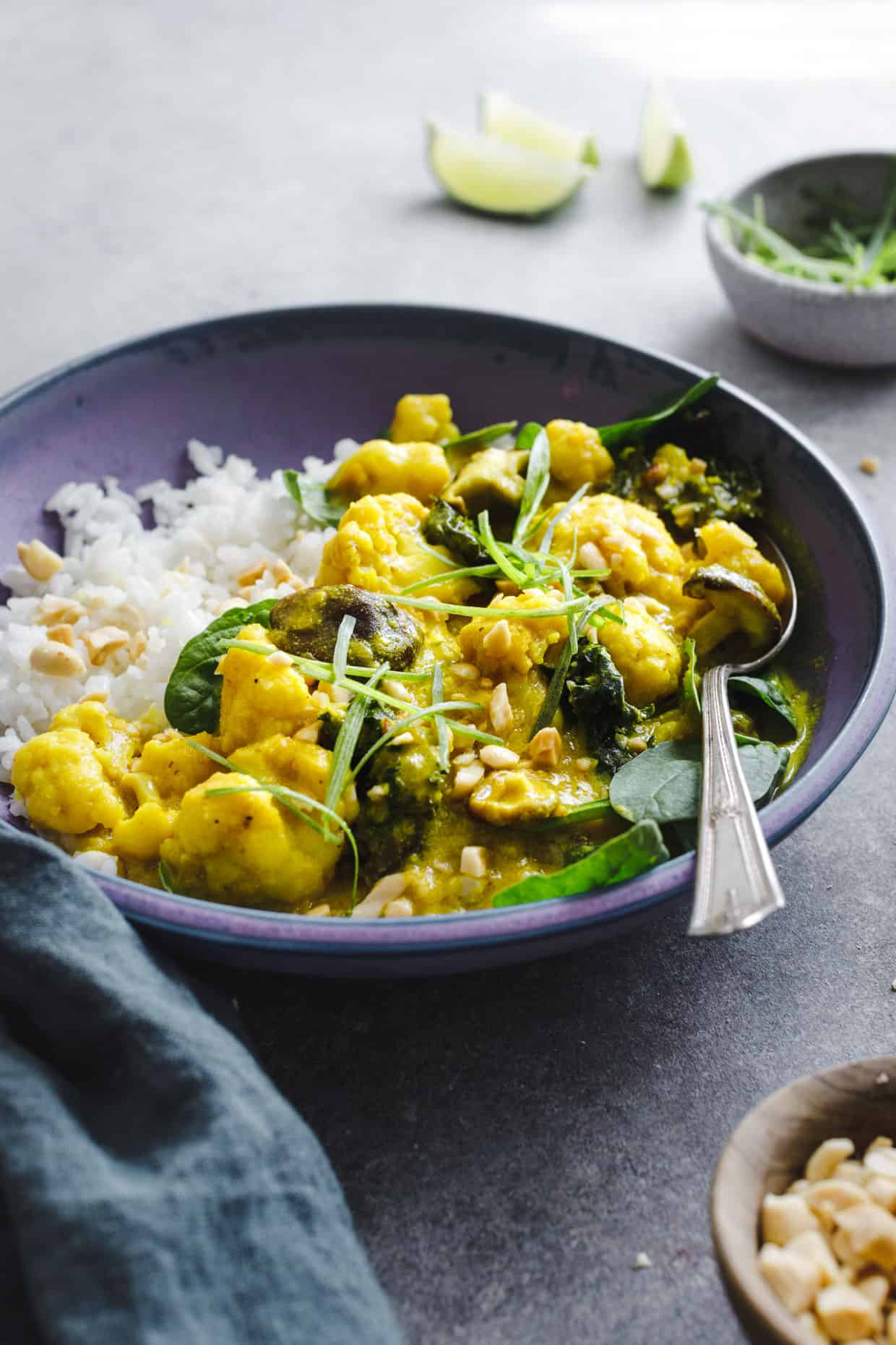Vegan Coconut Curry with Rice