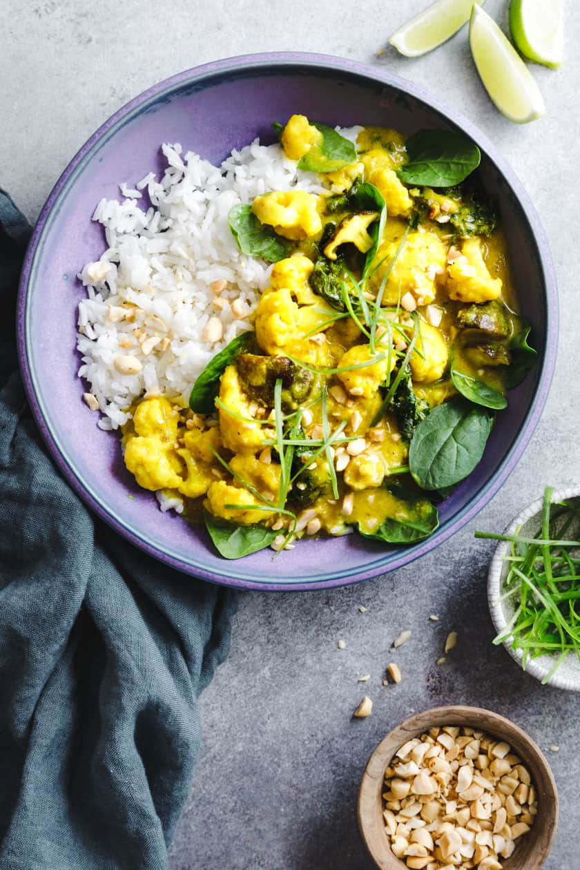 Vegan Coconut Curry with Coconut Rice