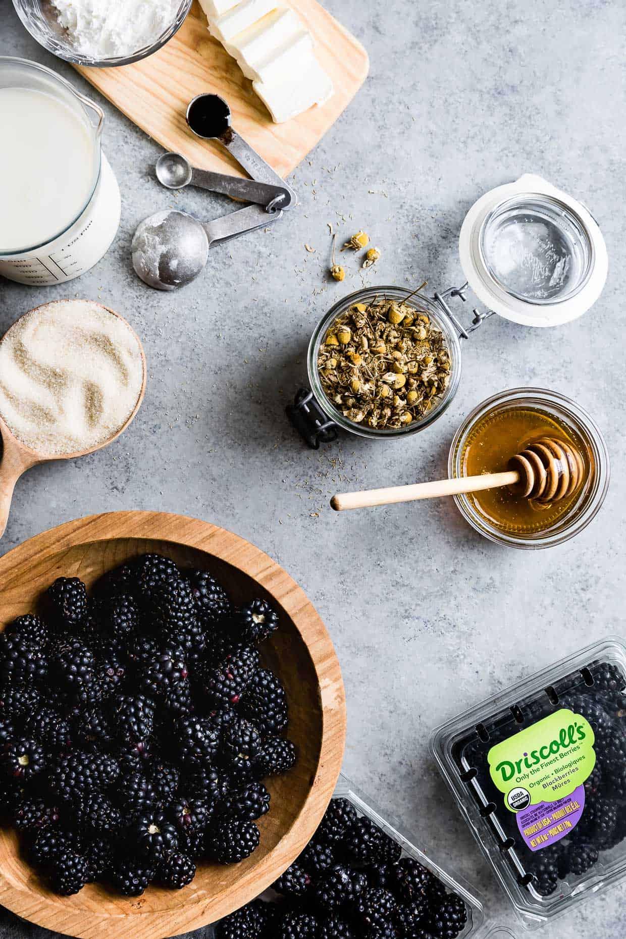 Chamomile Blackberry Ice Cream Ingredients