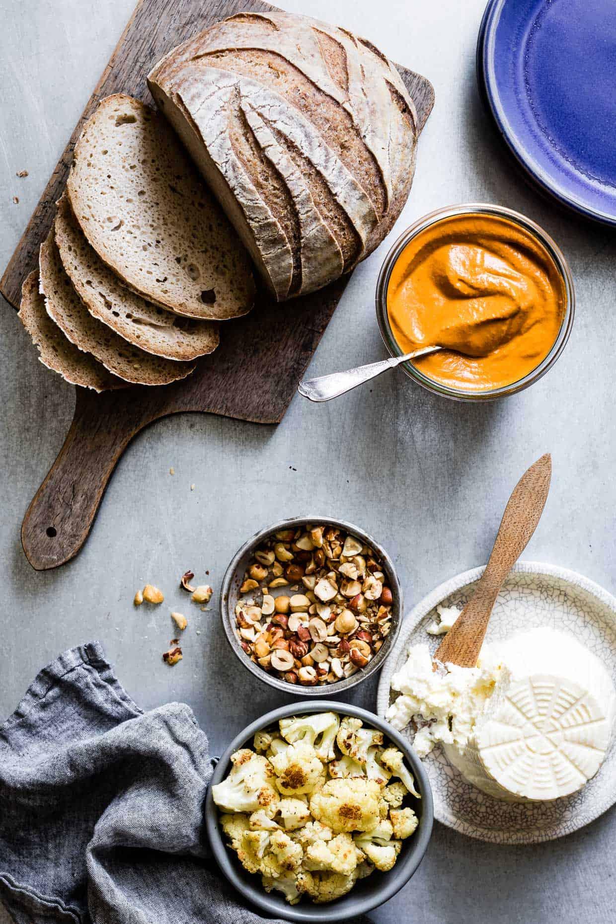 Hazelnut Romesco Sauce Toast
