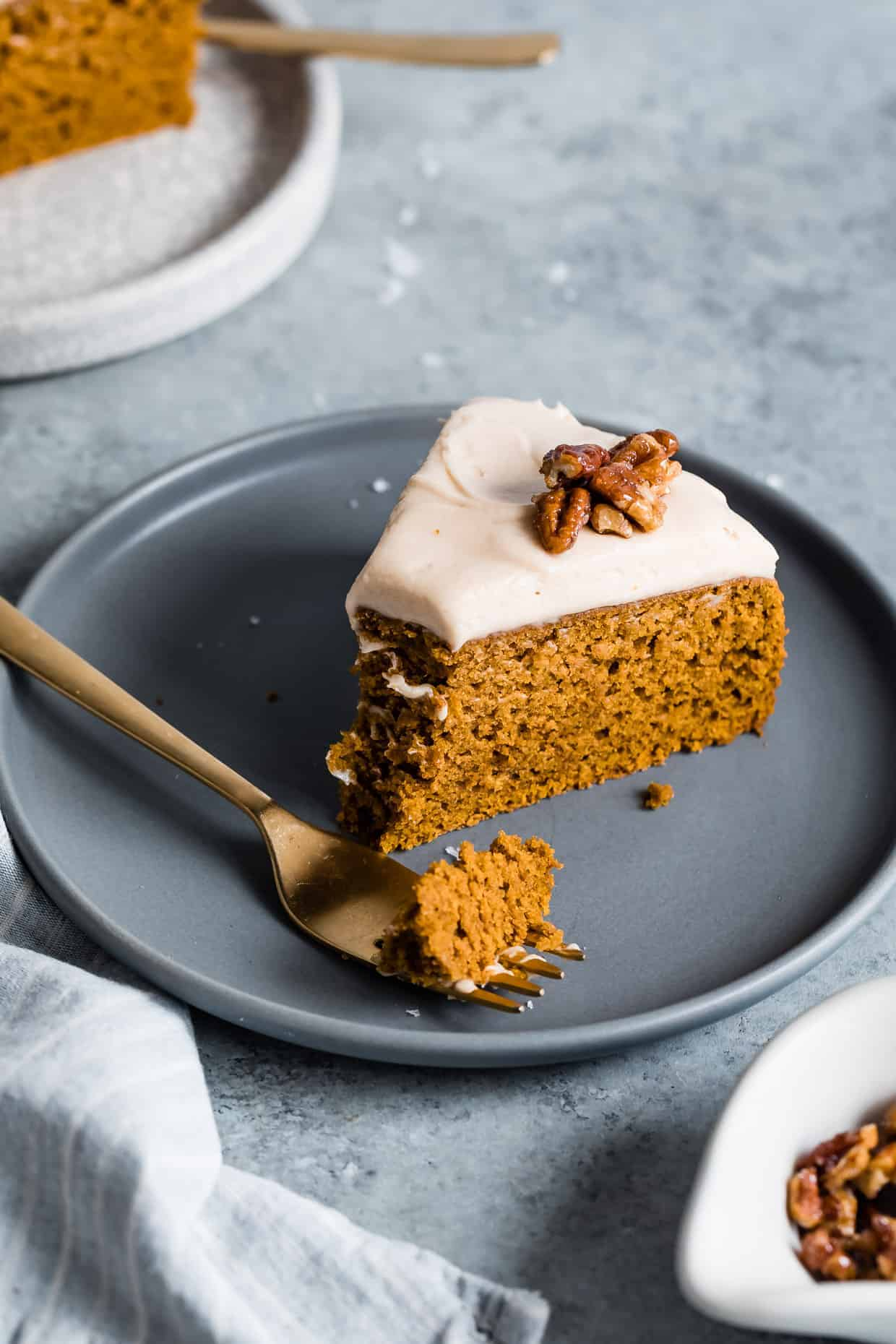 Gluten-Free Pumpkin Cake with Salted Caramel Frosting