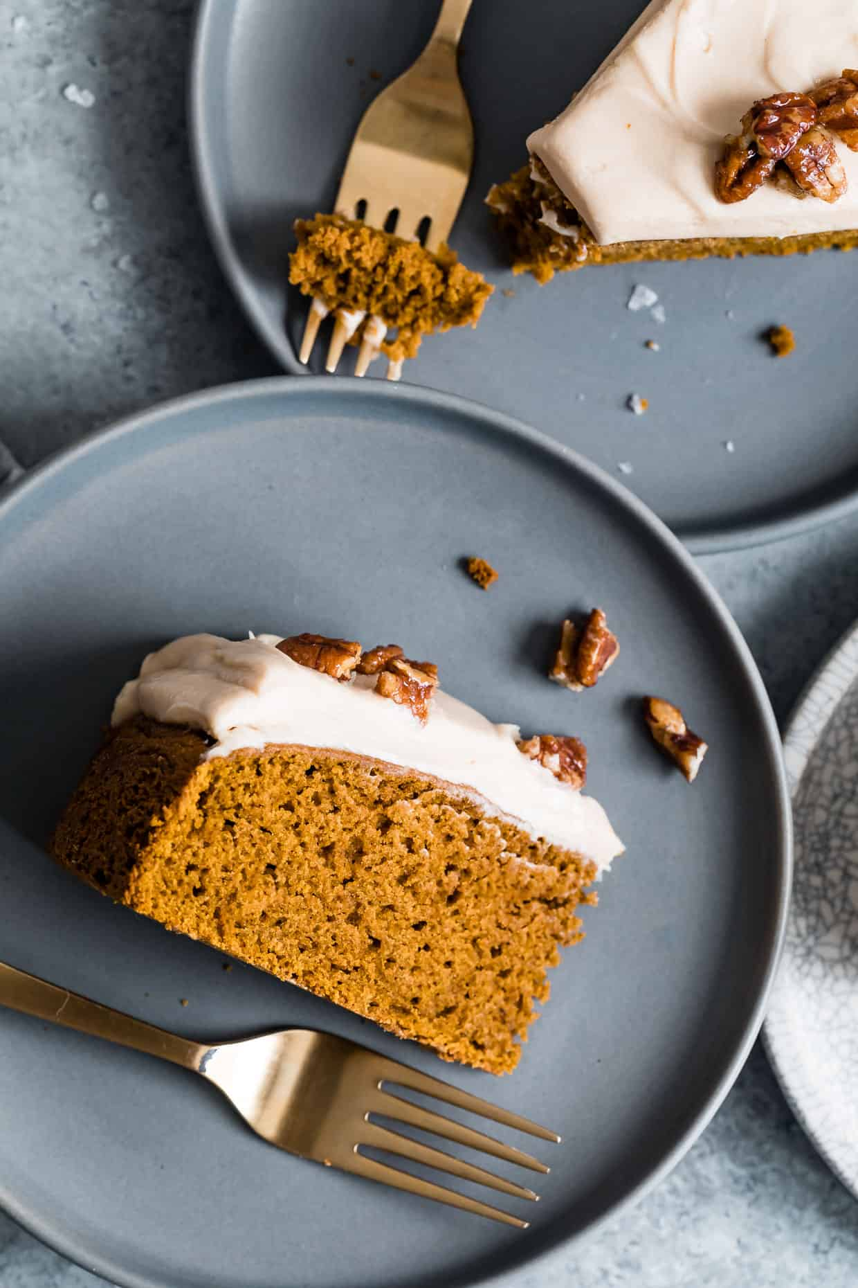 Gluten-Free Pumpkin Cake with Caramel Frosting
