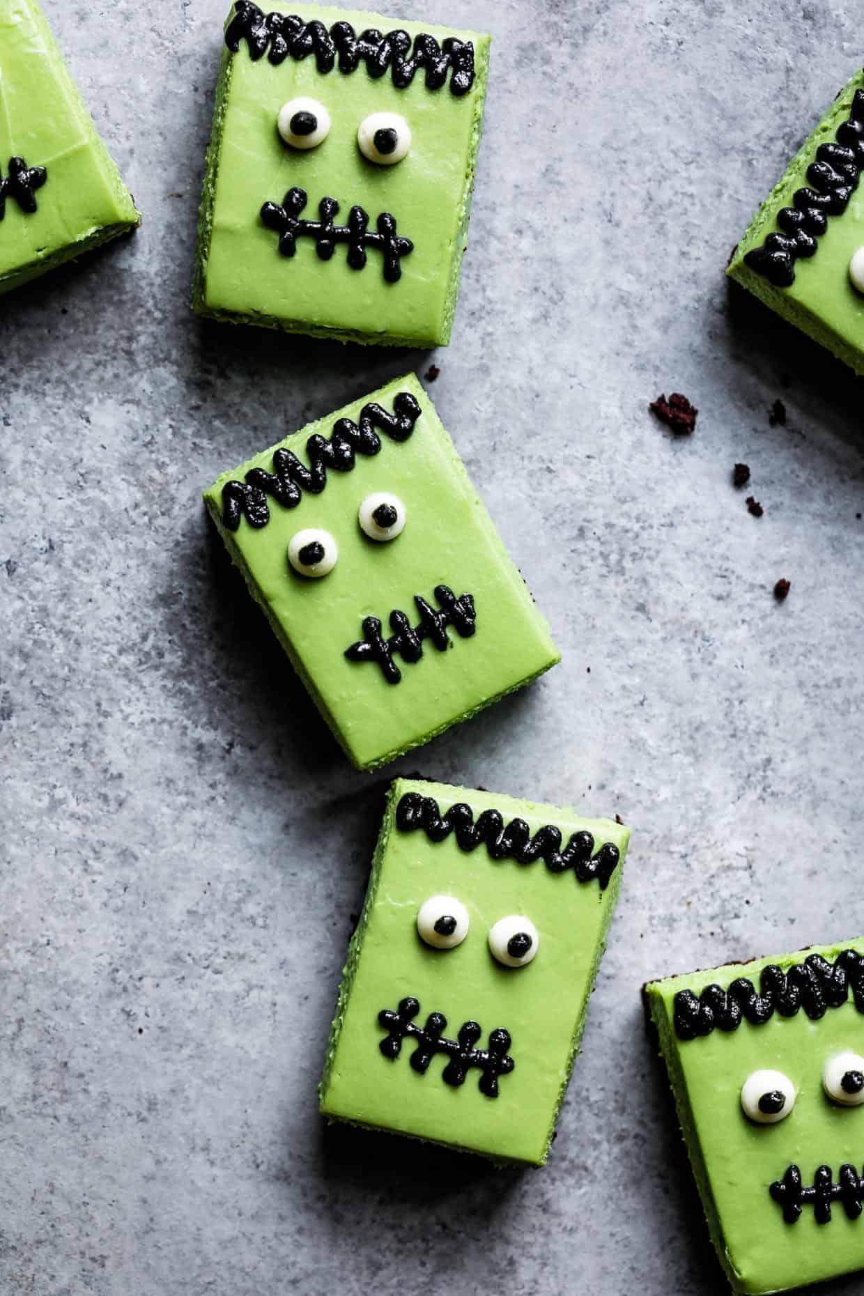 Gluten-Free Matcha Cheesecake Frankensteins