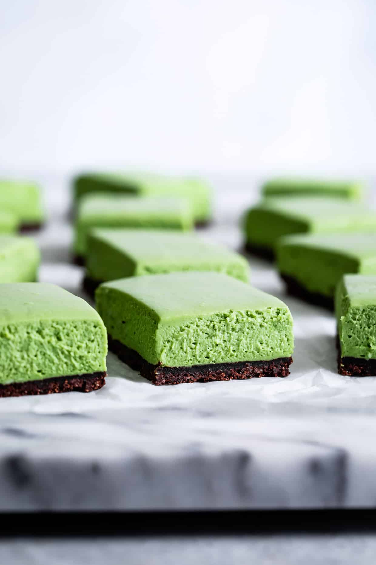 Gluten-Free Matcha Cheesecake Frankensteins | Snixy Kitchen